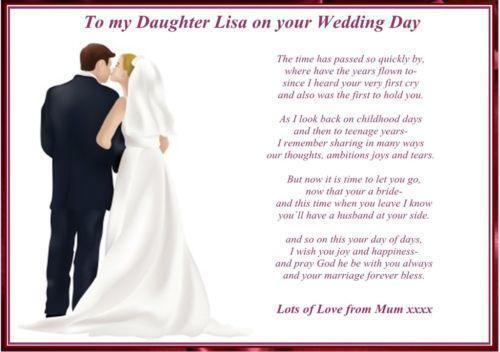 Wedding Day Poem | eBay