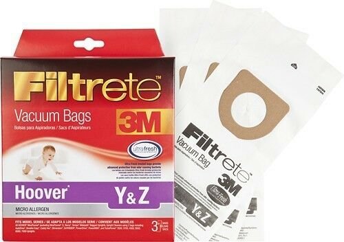 3m - Hoover Y & Z Pet Micro Allergen Vacuum Bag For Select H