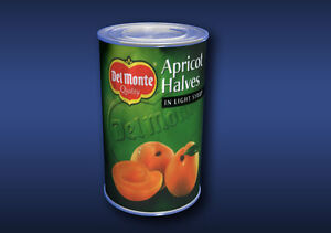 1-12-Scale-Apricot-Halves-Tin-Dolls-House-Miniature-Food-Cans