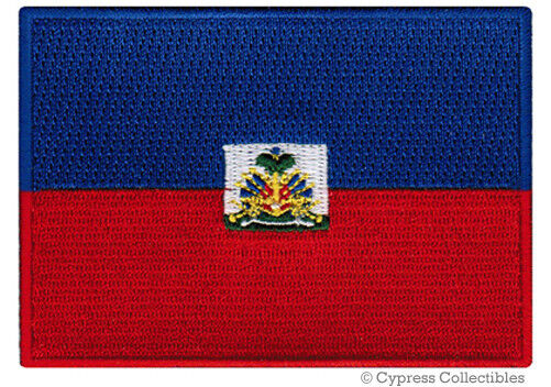 HAITI FLAG embroidered iron-on PATCH HAITIAN CARIBBEAN EMBLEM applique