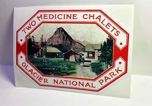 Glacier National Park Vintage Style Travel Decal / Vinyl Sticker,Luggage Label