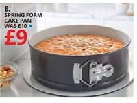 Spring form cake tin