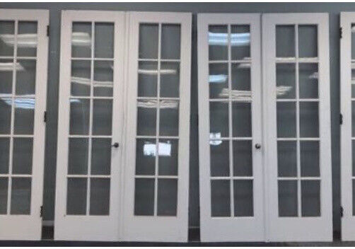 two sets interior french doors