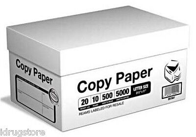 Multi-Purpose Printer Copy Paper, 8.5x11, Letter, 5000 Sheets, 10 Reams