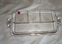 Antique Vanity Glass Divided Jewelry Tray