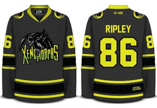 Xenomorphs Aliens - Geeky Jerseys - Hockey Jersey - Goalie