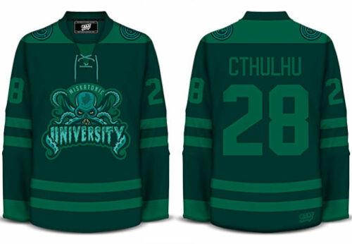 Miskatonic University CTHULHU - Geeky Jerseys - Hockey Jersey - 2XL
