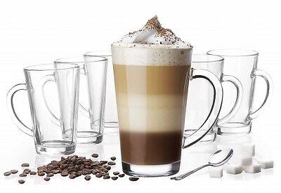 6 latte macchiato Occhiali 300 ml + 6 Cucchiaio BICCHIERI CAFFÈ 20 VARIANTI da