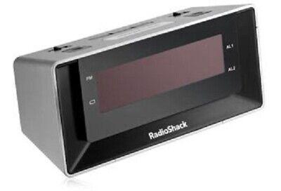 Radio Shack Dual-Alarm Clock with USB Charging & Night-Light 6300695
