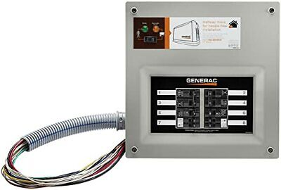 Generac 9854 - 50-amp Homelink Upgradeable Pre-wired Manual Transfer Switch