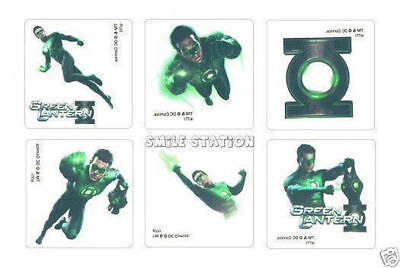 12 Green Lantern Temporary Tattoos Kid Birthday Party Goody Loot Bag Favor](Green Lantern Party Supplies)