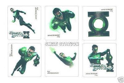 Kid Lantern (12 Green Lantern Temporary Tattoos Kid Birthday Party Goody Loot Bag)