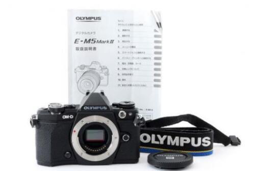 Olympus OMD E-M5 Mark II Mirrorless Camera (Body Only) Black V207040BU000