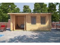 Brand New Log Cabin | 5m x 3.5m | 44mm logs | Under 2.5m high | Free delivery in the South East!