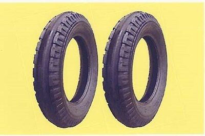 Two 4.00-12 Allis Chalmers G Original Firestone Front Tractor Tires Tubes