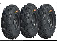 Yamaha YFM350 Bruin 350  ATV Tire Set Of 4 Kenda Bearclaw 25X8X12,25X10X12