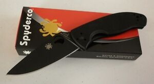 Spyderco Tenacious Black Plain Edge G10 Folding Knife C122GBBKP