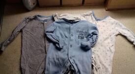 Tiny Baby Boy Sleepsuits