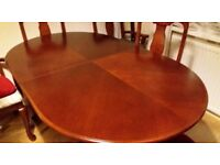 Solid 6 seats dining set