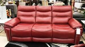 RED LEATHER RECLINER ON SALE (ND 136)