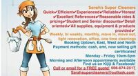 Sarahs super cleaners -booking for week of August 22nd!