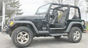 2003 Black Jeep TJ Automatic 4.0ltr.