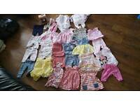 0 to 3 months baby girl clothes bundle