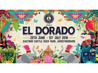 El dorado full weekend festival Ticket for £110