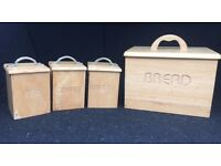 Bread Bin with tea, coffee and sugar canisters
