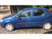 Blue Fiat Punto 2004