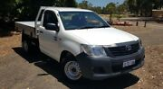 2015 Toyota Hilux TGN16R MY14 Workmate White 5 Speed Manual Cab Chassis Kenwick Gosnells Area Preview