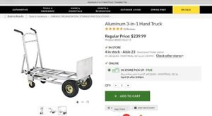 Aluminum 3-in-1 Hand Truck/Diable 3-en-1 en aluminium