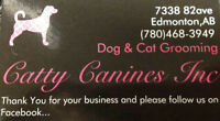 CATTY CANINES Inc  NAIL TRIMS to support animal rescue!!!