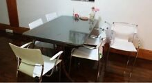 6 X white leather dining chairs Narrabeen Manly Area Preview
