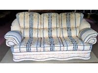ELEGANT THREE PIECE SUITE - SOFA & TWO CHAIRS - EXCELLENT CONDITION