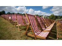 Work outside at a busy park this summer! Deck Chair hire, erecting marquees and more!