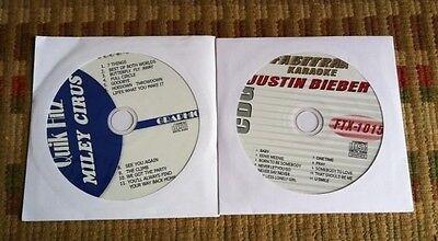 2 Cdg Discs Teen Karaoke Hits Justin Bieber Miley Cyrus 2011 2012 Cd G Songs