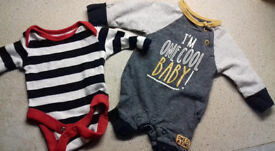 Long Sleeve Vest and Romper Boys 7.5lbs