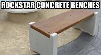 FREE concrete bench with your stamped concrete job