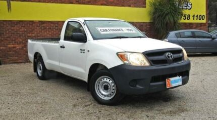 2005 Toyota Hilux GGN15R MY05 SR White 5 Speed Automatic Utility