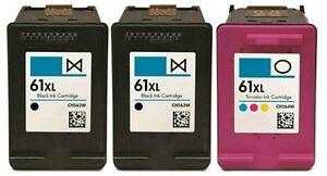 3 PK HP61XL Black&Color Ink Cartridges for HP Deskjet 1000 1050 1051 2050 Series
