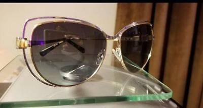 100% Authentic Michael Kors Cat Eye Sunglasses and Case Gold Hardware Great Gift