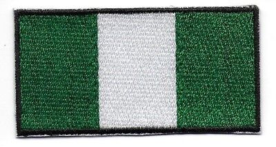 Embroidered NIGERIA : Flag Iron on Sew on Patch Badge Applique