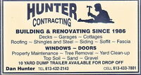 Hunter Contracting   ---- LAWN MAINTENANCE