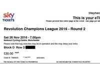 Adult & Child tickets Revolution Champion League Track cycling Manchester Velodrome