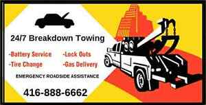 CHEAP TOWING BATTERY BOOST LOCKOUT GAS DELIVERY TIRE CHANGE 24/7