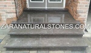 Antique Black Wall Coping Stone Natural Stone Coping Step Treads