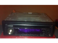 Kenwood car stereo CD player with aux input