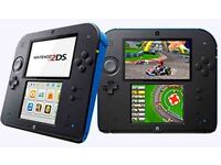 NINTENDO 2DS Blue/Black With Mario Kart 7 Pre installed [NO BOX]