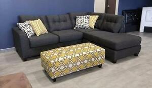 $1399 - Modern Sectional with Design Ottoman ---  READY TO SHIP